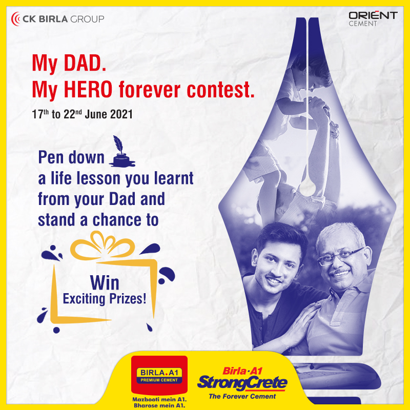 Celebrate the special bond you enjoyed with your dad by sharing a special advice he offered you. Make it short & revive the sweet memories that will linger on forever. Unique lessons will stand a chance to win exciting rewards. T&C: https://t.co/rZlGzGQhxL  #BirlaA1 #ContestAlert https://t.co/6rEr9IjTqy