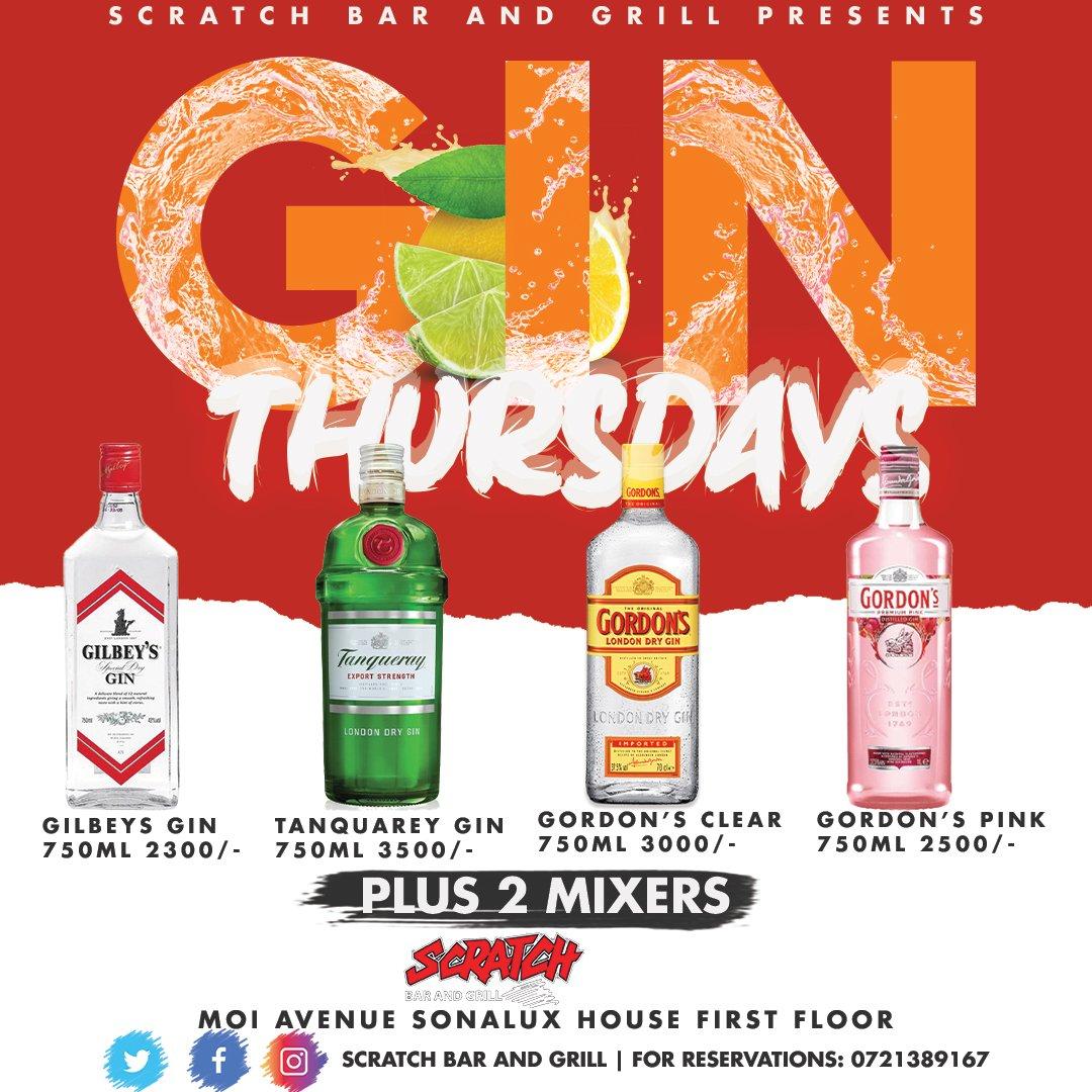 𝗚𝗶𝗻 𝗧𝗵𝘂𝗿𝘀𝗱𝗮𝘆'𝘀: 🤟🥃🍹 𝗚𝗶𝗻 𝗞𝗶𝗻𝗱 𝗢𝗳 𝗔 𝗗𝗮𝘆. 😎 𝗢𝗻𝗹𝘆 @scratchbar254 .  #scratchbar #ginthursday #gin #offer #nightlife #party #drinks #club #clubbing #bar #grill #lounge #ifbb #fff #igkenya #partylife #gainwithmchina #gainwithxtiandela #partytime https://t.co/aVD3vWdRnB