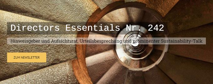 Directors Essentials Nr. 242Hinweisgeber und Aufsichtsrat, Urteilsbesprechungund prominenter Sus....