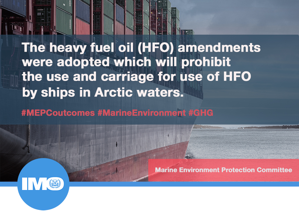 Dear @IMOHQ, may we point out that you've conveniently left out the bit about how exemptions & waivers means a complete #Arctic heavy fuel oil ban will not come full into force for another ***EIGHT*** years, thus endorsing continued pollution?  👀https://t.co/dRnGo0gtks @Reuters https://t.co/s6MBmKaXKV