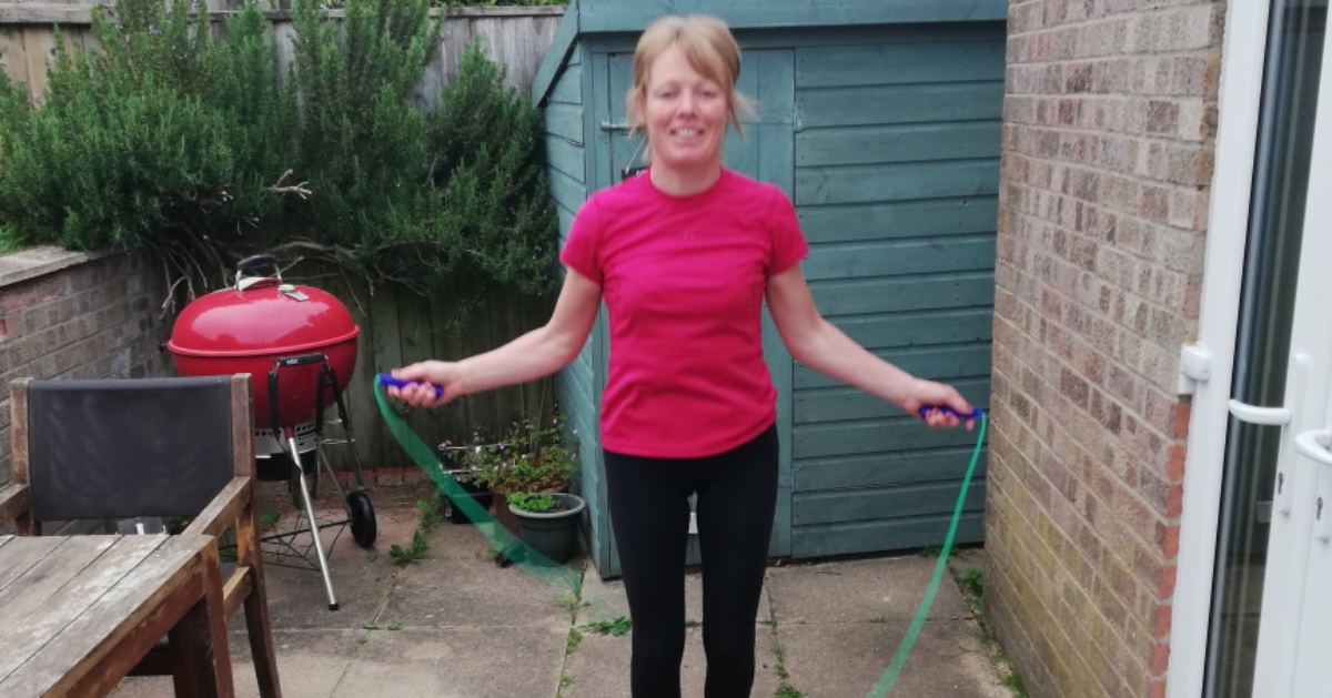 """""""My youngest son and I decided to do the daily skipping challenge together, and now we're both hooked!""""  To celebrate #ThisGirlCanWeek members of our team have shared how they choose to get active. Find out more here: https://t.co/MHokBu7w1h  #ChooseYou #ThisGirlCan"""