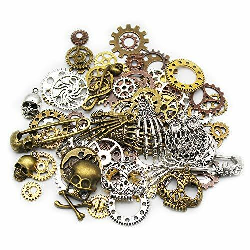 #steampunk https://t.co/J6KFs83pWt Mila-Amaz 80 Pcs Assorted Antique Steampunk Gears Metal Skeleton Pendant Charms Cogs for Jewelry Making Accessory – Bronze, Silver