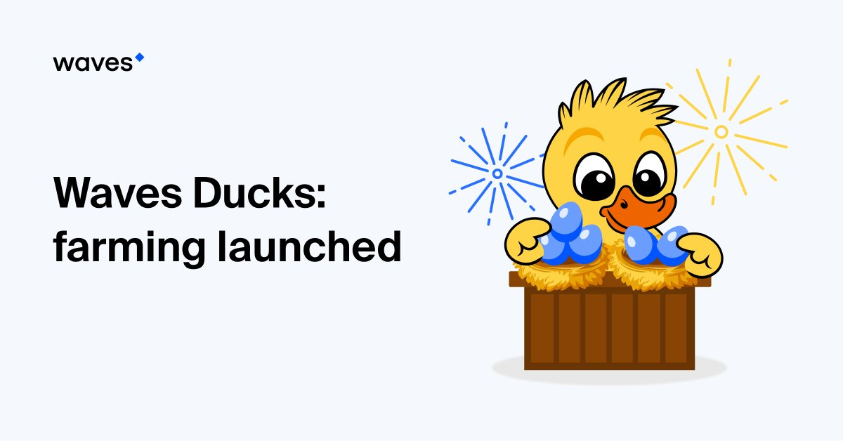 With the launch of the #farming feature at https://t.co/oMQcE7Kvbv, the #WavesDucks universe is complete! Things come full cycle as the ducks will lay $EGGs back to you. The earliest farmers will catch the highest APY! $WAVES #NFTs  Check out more details: https://t.co/j9iyDW54xD https://t.co/ZikgqCFLjt