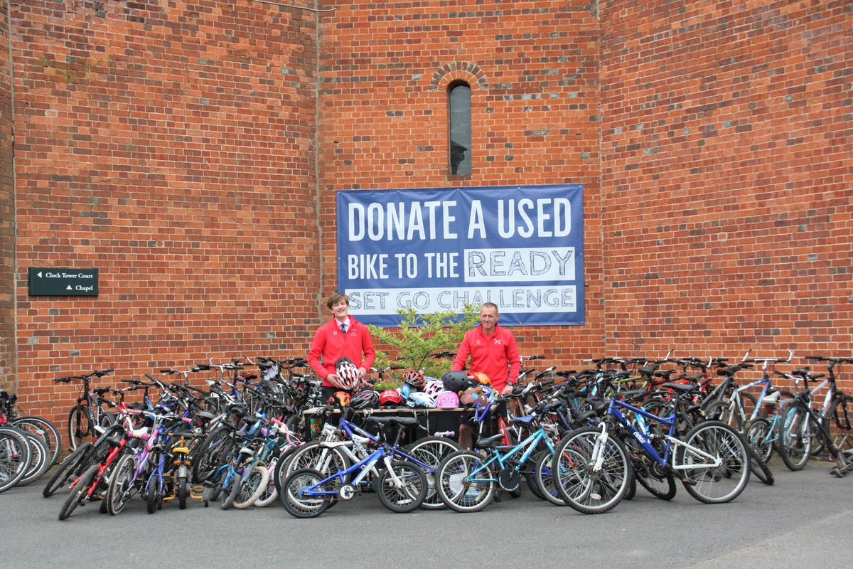 A massive thank you to @RadleyCollege 🙌 You're so amazing! 🚲 Donated 75 bikes to Ready Set Go  🏊♀️ Opened up their pool for Yr 7s from @TheOxfordAcad who missed out on swimming lessons from COVID-19. @RadleyCharities #Community #Oxfordshire