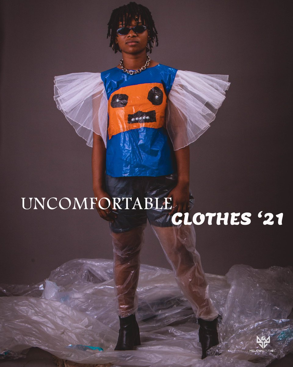 """Fashion is Pain ! And we are here to serve some Vawulence 👹👹 Boie& Bill presents """"Uncomfortable Clothes """" A sustainable fashion Collection campaign .  Model : @sandyhekny  Design : @ethzab_  📷: @amteabag   #Love #music #beauty #gainwithmchina  #music #gh #ghana https://t.co/ukONU65vvl"""