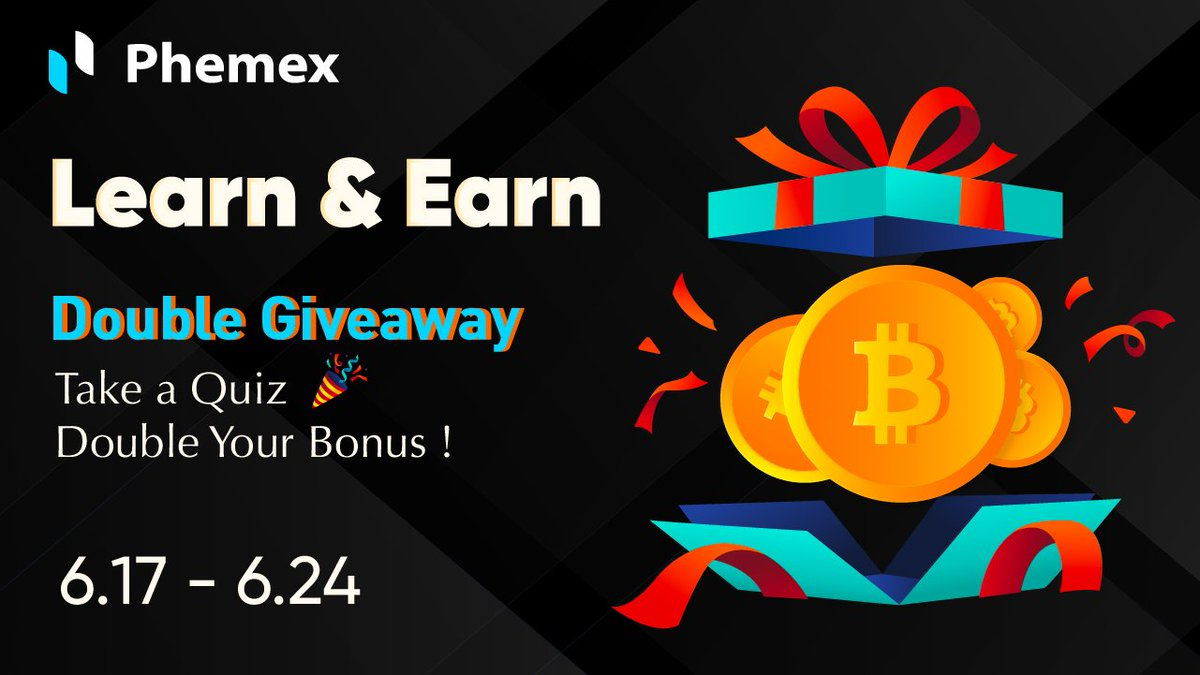 """Ready to brush up your crypto knowledge?🤓 Join our """"Learn and Earn Double Giveaway"""" event to double your earnings! 💸  Join here: https://t.co/AyTVJOwXEz  #Phemex #LearnAndEarn #Crypto #Cryptocurency #quiz #giveaway https://t.co/sm7X54itu1"""