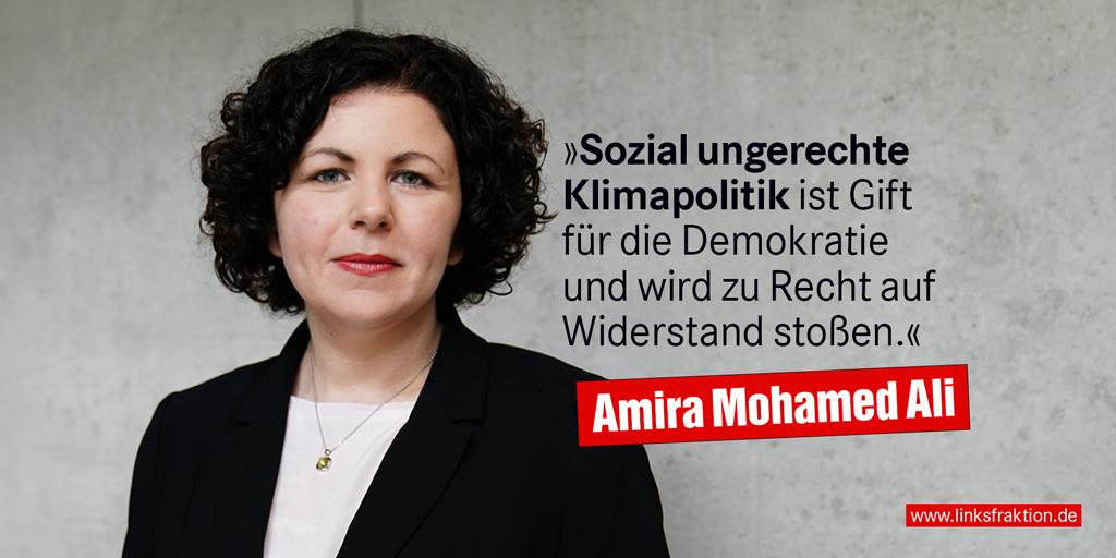 .@Amira_M_Ali: Wir brauchen eine intelligente und effektive #Klimaschutzpolitik, die alle Menschen mitnimmt. Um die sozialen Voraussetzungen zu schaffen und für eine solide Finanzierung zu sorgen, ist eine gerechte Besteuerung der #Multimillionäre nötig. https://t.co/g5vJZntf6l https://t.co/ZsGmB9T80V