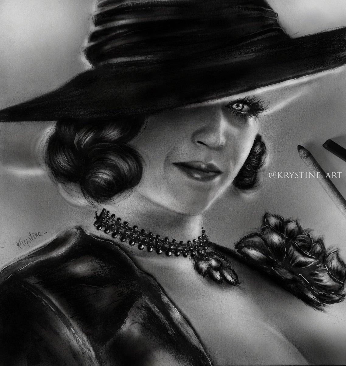 Drawing - Cosplay 🖤 #LadyDimitrescu   #ResidentEvilVillage https://t.co/4DRIcc37Lf