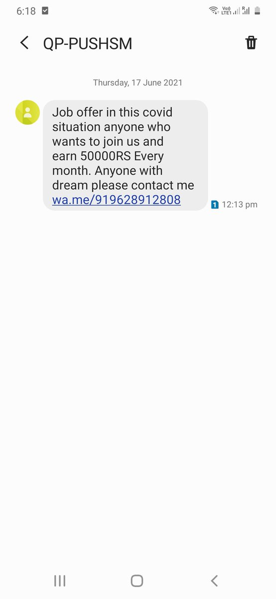 @actorbrahmaji @hydcitypolice @cyberabadpolice Dear @cyderabadpolice, Without knowing me how can the above person offer me a job, That too 50000/month.  This is a trap from few consultancies. Take severe action who are sending these messgaes. Save #Youth & Save #Hyderabd. https://t.co/NRI8L0mqMY