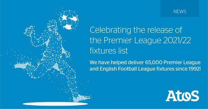 Atos delivers the @premierleague fixtures list for the 2021/22 season! We have now helped...