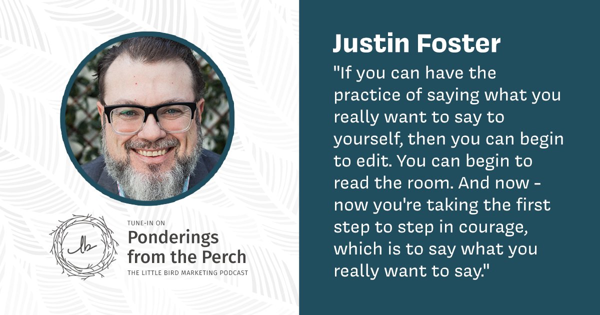 @fosterthinking of @RootandRiver joins me in this podcast episode to talk all things #branding, #authenticity and #empathy. It's a breath of fresh air! Listen now: https://t.co/ynv6cjyzrB #littlebirdmarketing #intrinsicbranding #ethicalmarketing #marketingstrategy https://t.co/EQsRxOdIps