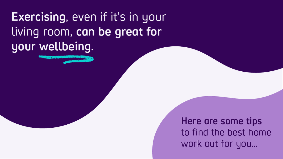 RT @scope: Exercising, even if it's in your living room, can be great for your wellbeing.   Here are some tips to find the best home work out for you 🧘♀️  (1/6)