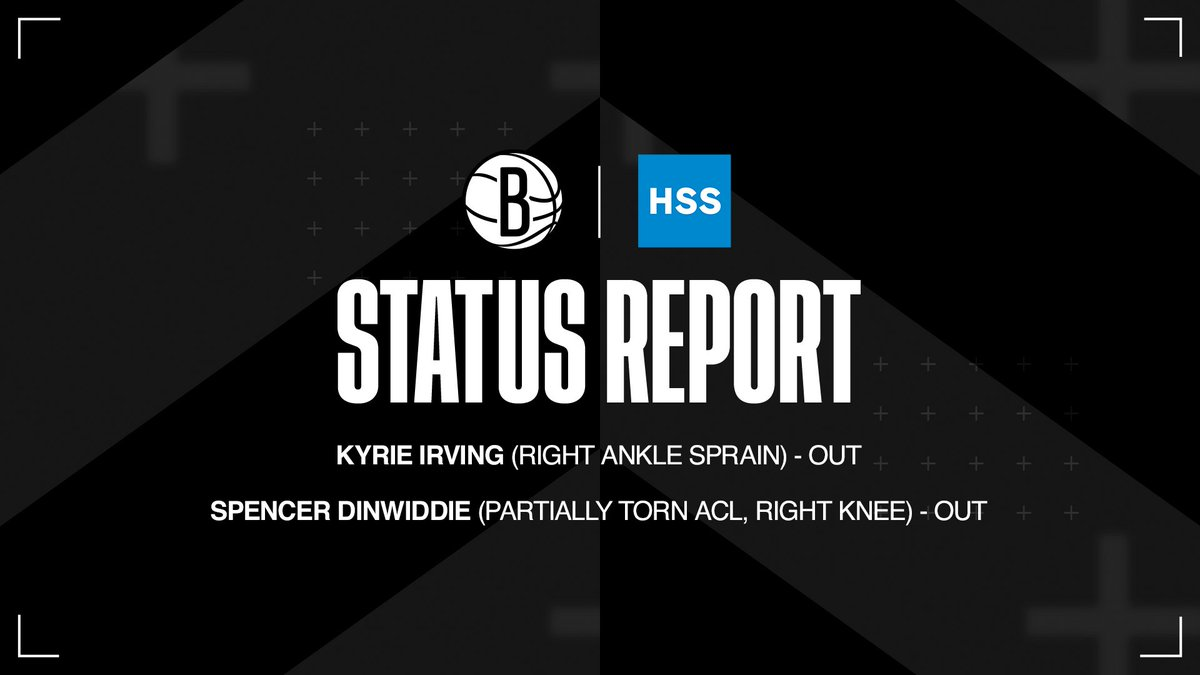 Nets @HSpecialSurgery Status Report for Game 6 📋 https://t.co/RfDcTgJTFk