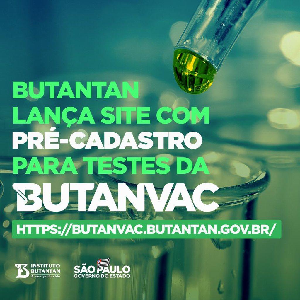O Butantan não para. Além da Coronavac, o Instituto desenvolveu a Butanvac, a vacina 2.0 contra Covid-19, que não vai depender de matéria-prima de outros países. A ciência a serviço da vida 👏👏👏 https://t.co/H5oTSEkJiu
