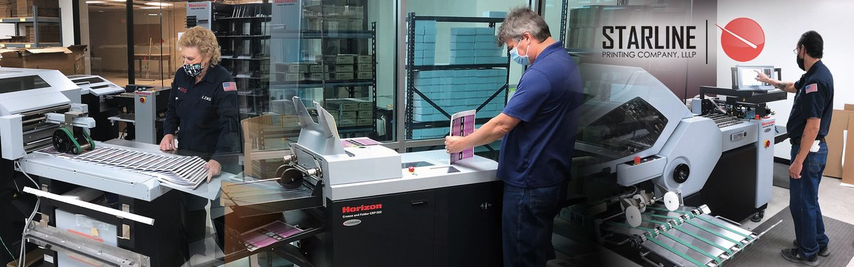 Starline had significant labor savings, liberated valuable production floor space, and nearly eliminated overtime by replacing their aging bindery with a new fleet of automated Horizon finishing solutions.