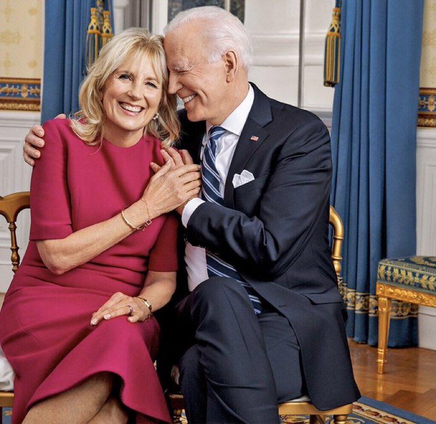 Our First Lady Dr. Jill Biden and her husband the President have been married for 44 years today. Love is in the White House again. 💙🇺🇸 https://t.co/JJHCxsGiZi
