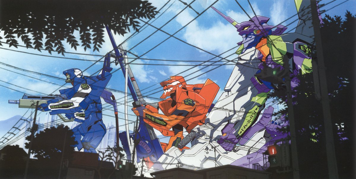 Neon Genesis Evangelion Illustration made by Yoh Yoshinari