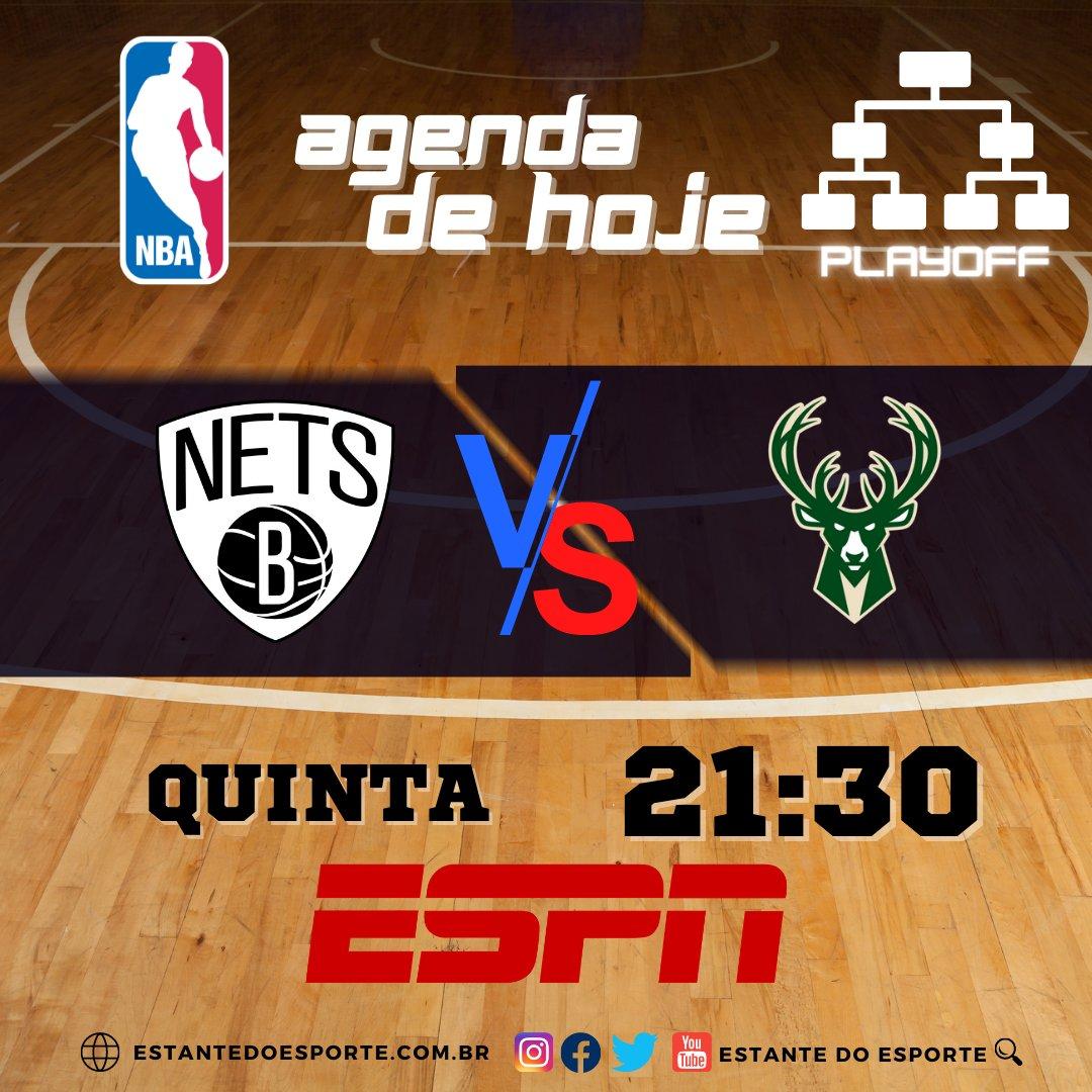 Agenda da NBA 🏀 ⠀ Nesta Quinta, confira o jogo ao vivo pelo basquete mais famosos do mundo. ⠀⠀ NETS 3️⃣VS2⃣ BUCK  #agendanba #nbatwitter #nbabrasil #nba #nbaaovivo #nbafantasy #nba2021 #nbanatv #ESPN #basquete #NBAnaESPN #Esporte #nbaplayoffs https://t.co/cpTBvVMNfV
