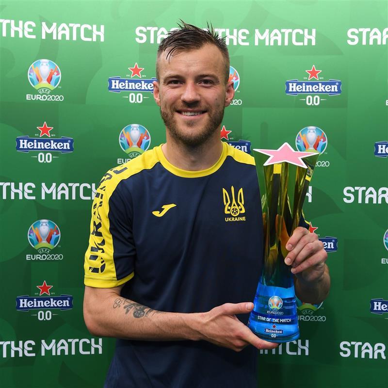 🏆 Well deserved, @Yarmolenko_7!  #EURO2020 https://t.co/ZVdftae2e8
