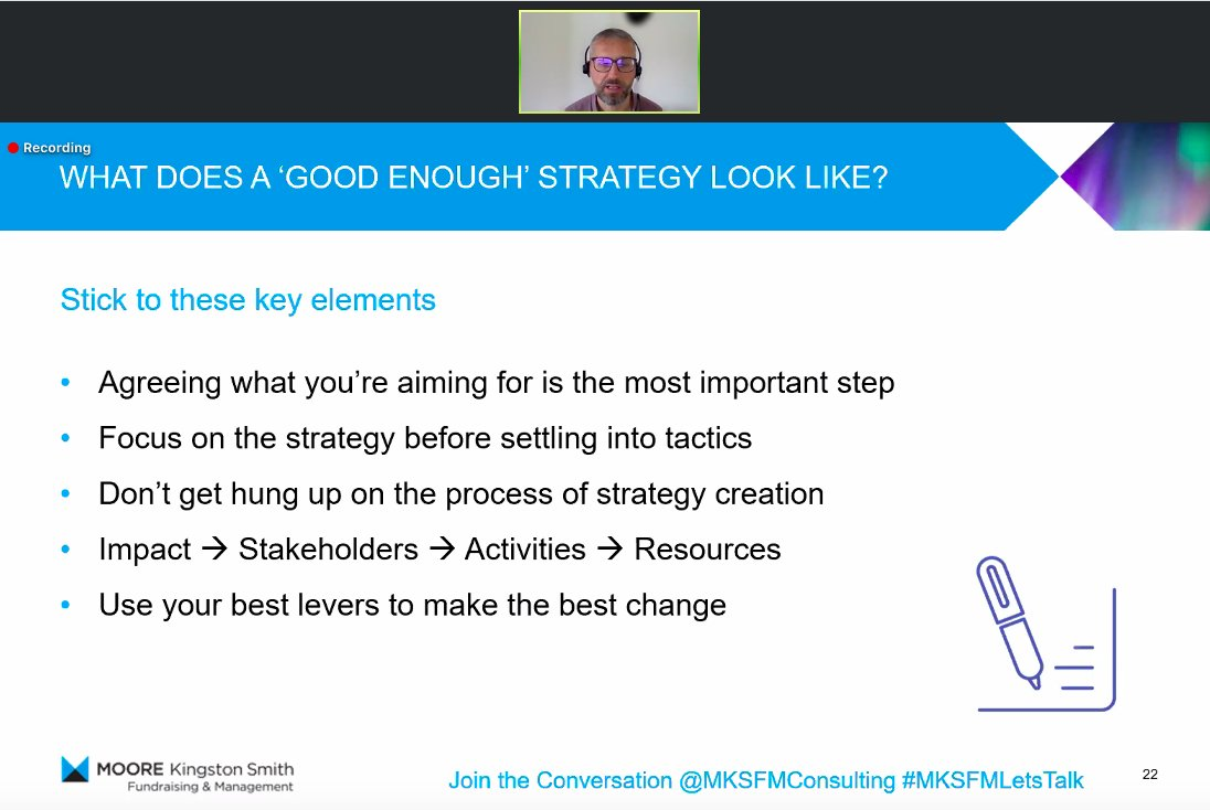 So what does a 'good enough' strategy look like? Some very useful tips from @DanFletcherMKS