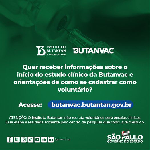 Butantan abre pré-cadastro para voluntários da Butanvac https://t.co/m3VwXD533p  Siga o JM no Instagram @jornaldamanhamariliasp #jornaldamanhamarilia #jornaldamanha #Butanvac #vacinasalvavidas #vacinaja #avacinadobr https://t.co/XPVIfB3oL8