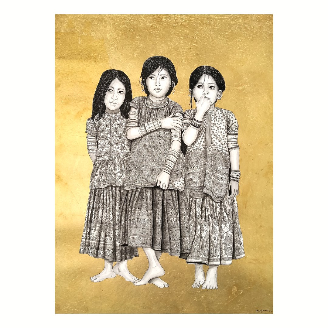 Discover fascinating emerging and established artists with a distinctive style from across India: https://t.co/eMKM8ZQO5j  Kapil Anant, India Rajasthani Rural Sisters, 2020 Acrylic on canvas  #rtistiq #art #tokenised #nft on #ethereum #blockchain to mark #authenticity https://t.co/wACzFvi6Fl