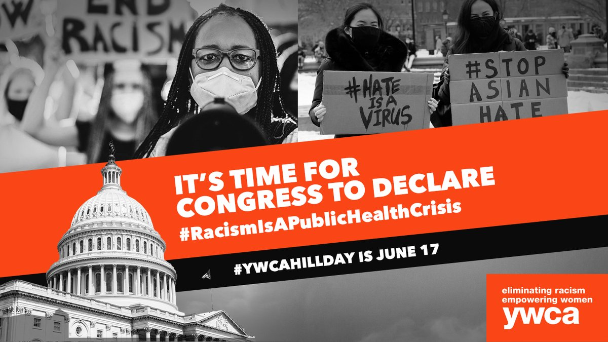 We're proud to stand with our sister YWCAs for #YWCAHillDay. Join us in calling on Congress to declare that racism is a public health crisis: https://t.co/lGrmcAgWUN #UntilJusticeJustIs #YWCAHillDay