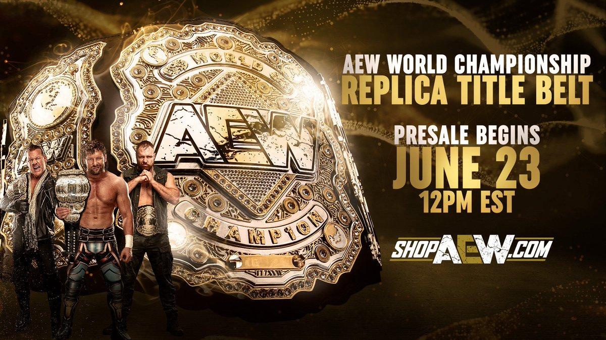 AEW Announces Pre-Orders For AEW World Title Replica Belts
