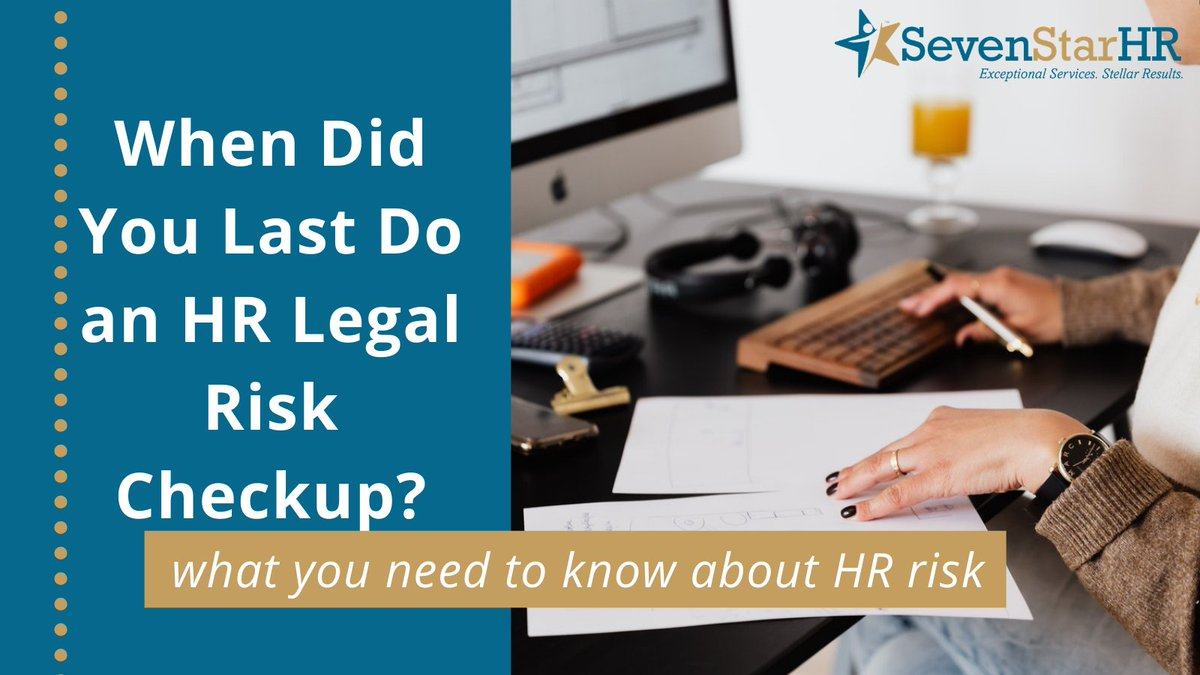HR is fraught with risk because the laws keep changing locally, state-wide, and through the federal government.   When did you last do an HR legal risk checkup? https://t.co/WKjkib0GbC  #HR #humanresources #risk #businessowner #smallbusiness https://t.co/CebqfHuKey