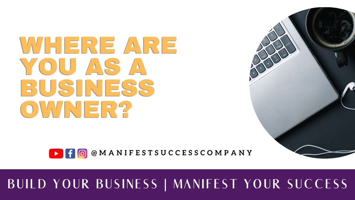 Where are you as a Business Owner ? #Businessquestion #Businessowner  #Blackbusinessowner #Entrepreneur https://t.co/UX8M823jMn