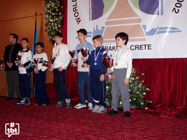 test Twitter Media - Throwback to the World U12 C'ship, 2002. Can you spot the future world title challengers?   (R to L: @lachesisq , @MagnusCarlsen , @DavidHowellGM, Dmitry Andreikin, Nguyen, Wei Chenpeng). #throwbackthursday #TBT https://t.co/WHe0nWd6Av