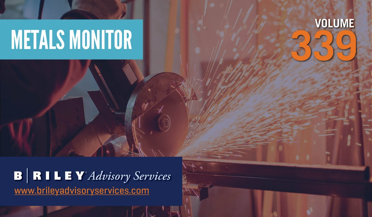 U.S. #steel prices have skyrocketed in recent months, setting new record highs for multiple weeks in a row. Most base #metals have also been on a hot streak, with the price rally led by #copper and #aluminum. Learn more in B. Riley's latest Metals Monitor. https://t.co/co10pZPPWQ https://t.co/Hau8W8FNLS