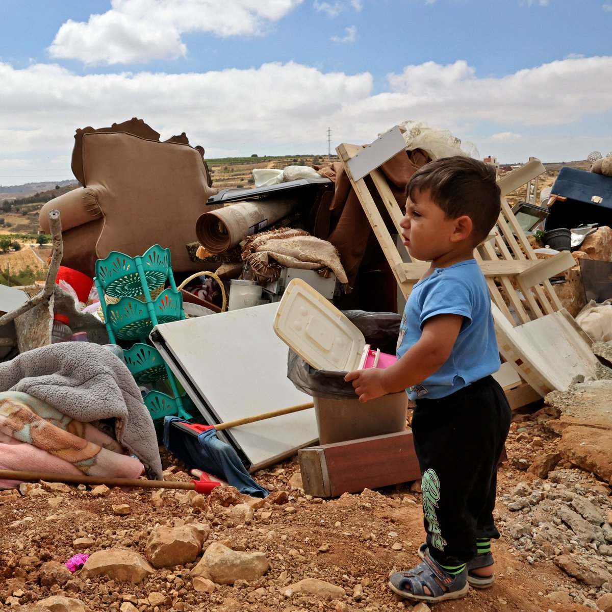 Israeli forces demolished at least one Palestinian home in the occupied West Bank and issued orders to demolish several others near Hebron, impacting over 40 people.  Israel has displaced over 500 Palestinians in 2021, and advanced plans for hundreds of illegal settlement homes. https://t.co/AXZKw3nFc4