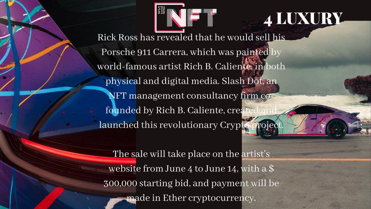 The Porsche 911 Carrera sold as NFT. Read more..   #nfts #nft #digitalart #art #cryptoart #l #raredigitalart #ethereum #artoftheday #cryptoartist #blockchain https://t.co/Bdbjx4ktMs