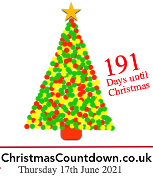 17th June 2021, 191 days to go! For all the latest #Christmas news, planning tips and #competitions see https://t.co/ld4OnTryR6 https://t.co/Y0NXN8YW3w