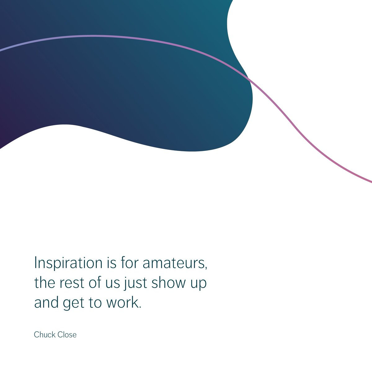 Inspiration is for amateurs, the rest of us just show up and get to work. - Chuck Close  #life #arte #beauty #draw #instaart #creative #sketchbook #fun #artist #graphic #graphicdesign #inspiration #smallbusiness #website #illustration #quote #quoteoftheday #daily #motivation https://t.co/1hzUwqOvAu