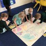 Image for the Tweet beginning: In Art we drew still
