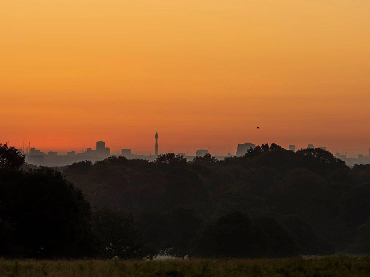 My entry to @StormHour #StormHour @RMetS #POTW Sunrise view over London. https://t.co/EUeepKUacn