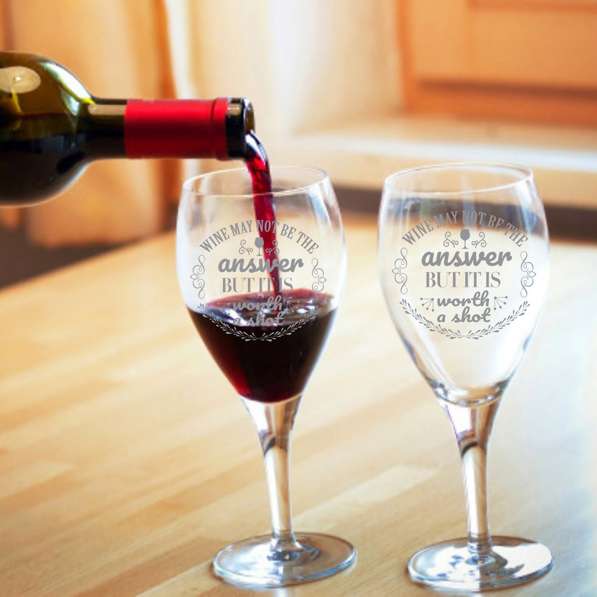 Excited to share the latest addition to my #etsy shop: ENGRAVED RED WINE Glasses, Wine May Not Be The Answer Glass Wine, Funny Red Wine Glass https://t.co/OISXvj1UmG #birthday #christmas #glass #redwinegoblets #glassredwine #redwineglasses #wineglasscustom #fathersdayg https://t.co/W2IZeFGr90