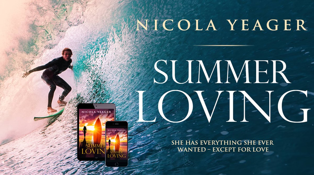 Summer Loving by Nicola Yeager. 'Pure chick lit through and through with lots of giggles.' https://t.co/RN0yiKLic4 #MustRead #Summer #ChickLit #RomCom #Sun #Sea #Sand #Surfing #HolidayReads https://t.co/BoJYp5RGas