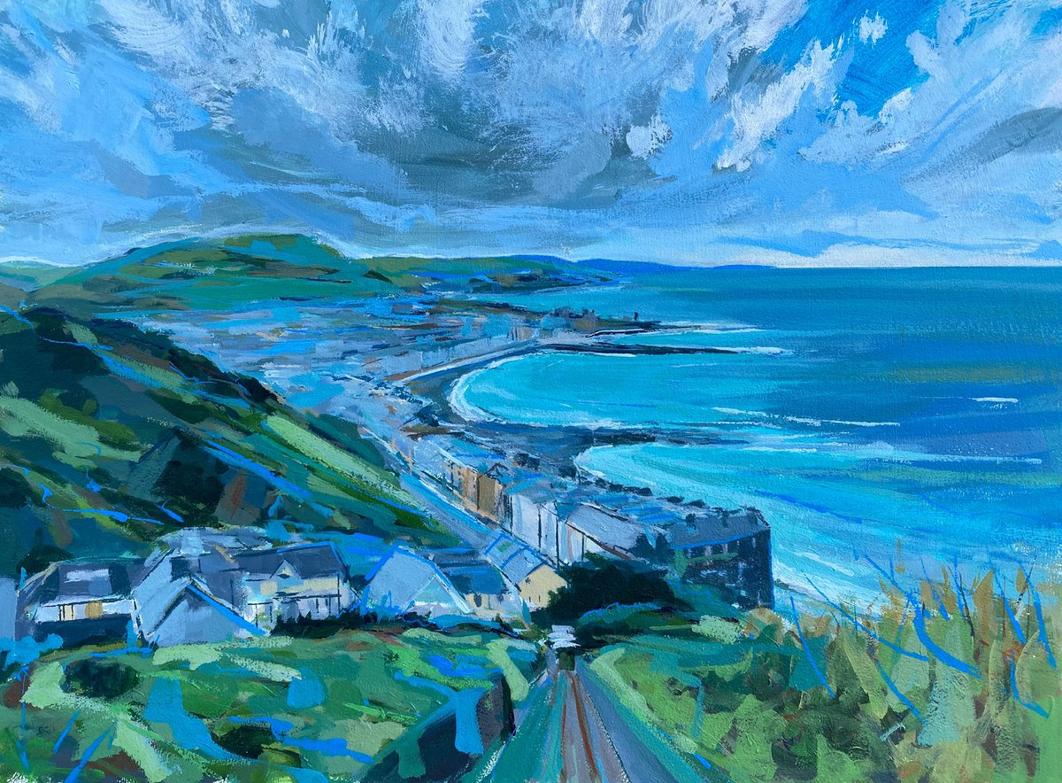 Aberystwyth, from Constitutional Hill. Acrylic on board. Smaller than usual… #aberystwyth #aberystwythpromenade #weloveaberystwyth #faberystwyth #orielybont #seascape #seaside #seascapes #seascapeart #westwales #wales #constitution #artcollectors #welshpainting #coastalpath #sea https://t.co/FGIZxz3Vbx