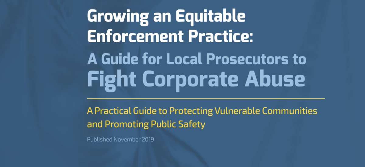 We say 'Equitable Enforcement' all the time, but what is it? Read this guide for local governments + advocates to learn:   - What #EqutiableEnforcment is - How it is & can be used to target #corporateabuse - Examples of Equitable Enforcement in action  https://t.co/sdooWjvjqg https://t.co/zPY5jyT7Ks