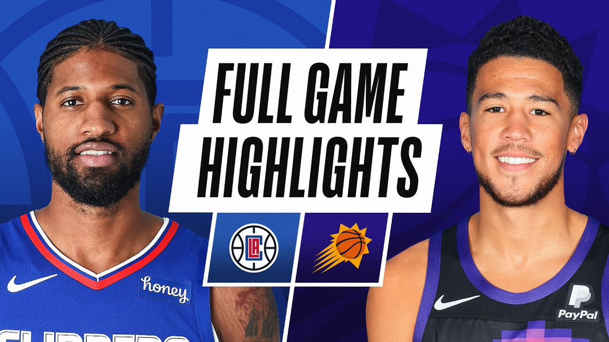 ##NBAVideos: CLIPPERS at SUNS   FULL GAME HIGHLIGHTS   April 28, 2021    https://t.co/OevWGIoBom   #Basketball #BasketballVideos #GLeague #Game0022000941 #NationalBasketballAssociation #NBA #NBAVlog #Video #Videos #Vlog https://t.co/6fiUoO3wTV