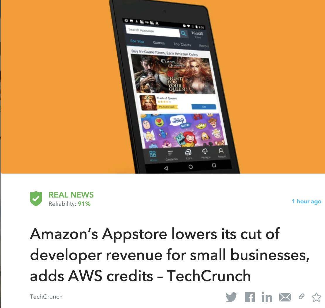 Amazon is following in the footsteps of app store giants Apple and Google with this week's introduction of its Amazon Appstore Small Business Accelerator Program.   Read More: https://t.co/0y3IrZ58JJ  #Amazon #SmallBusinesses https://t.co/k2kumMqUju