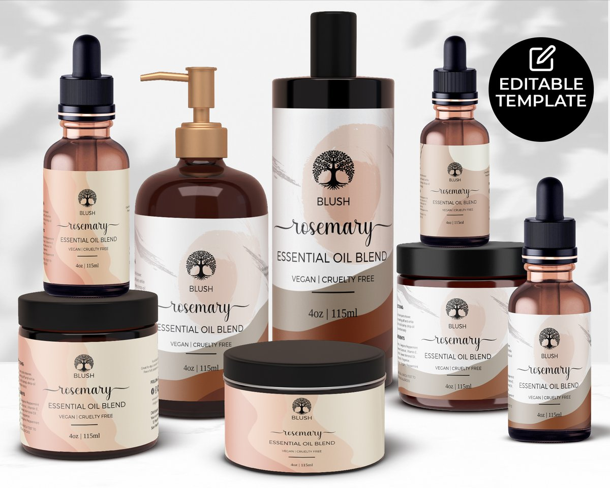 DIY Editable Skincare Product Labels, 1oz / 2oz / 4oz / 8oz , Editable Cosmetics Labels, Printable Body Butter Labels, Body Oil Templates https://t.co/rCDJrRHJDl via #BodyProducts #Labels #BodyOils #BeardOil #Bodybutter #SmallBusinesses https://t.co/cEfexR9mu8