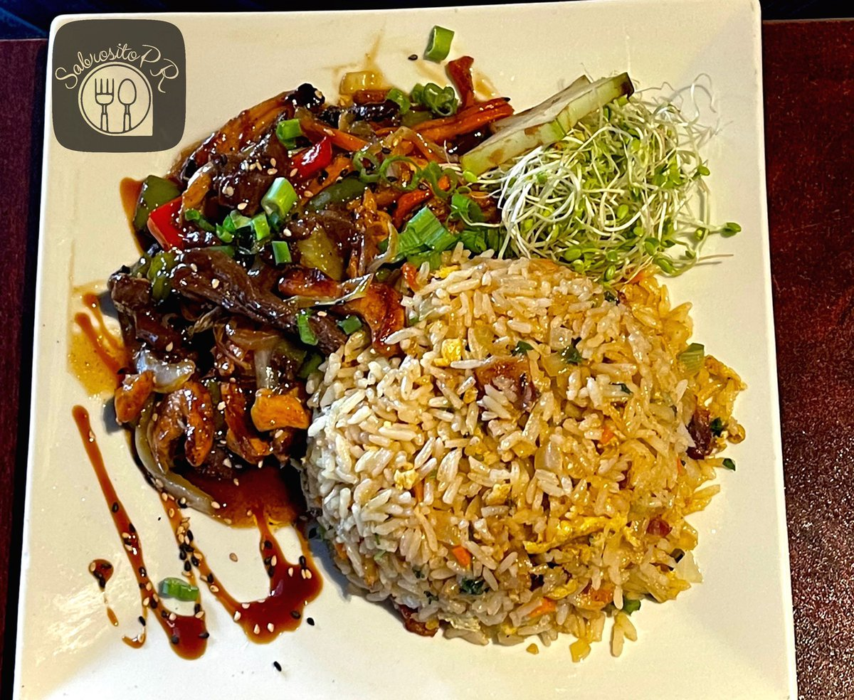 🍽Dish: 🍛 Chinese rice with vegetables accompanied with skirt steak and chicken. 💯#Sabrosito  🏘Restarant: @wsushibar  #Sabrositopr #puertorico #food #foodporn #foodlover #foodphotograpy #puertoricanfood #Delicious #blogger #foodblogger #instafood #puertoricanbelike https://t.co/FC4aGrBouo
