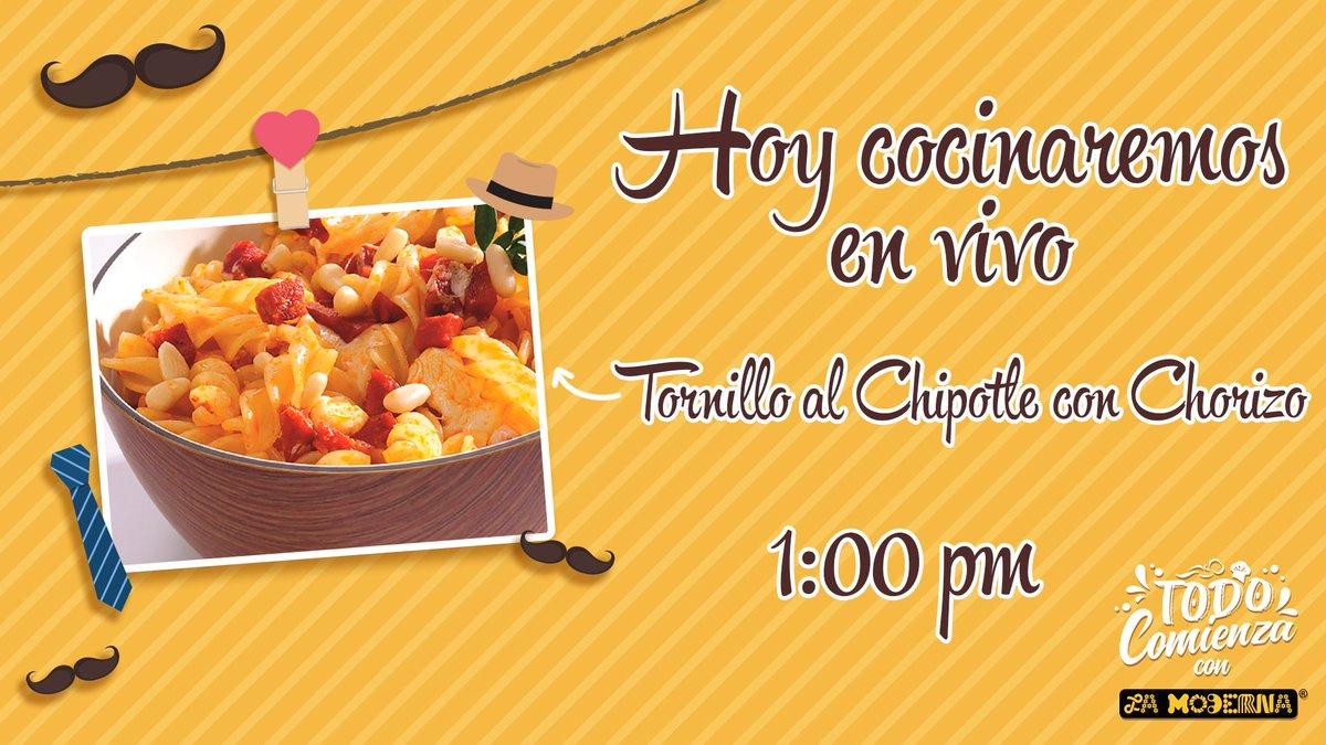 Hoy cocinaremos una receta para que sorprendas a papá este fin de semana y festejes con un delicioso platillo. ¿Listo? ¡Te esperamos a la 1:00 pm en nuestro Facebook Live! ⏰🍝😋 #Receta #EnVivo #FaacebookLive #Recetas #DíaDelPadre #Papáa #Chipotle #Chorizo #Deli #Yummy #Pasta https://t.co/IlhFz2ExDn