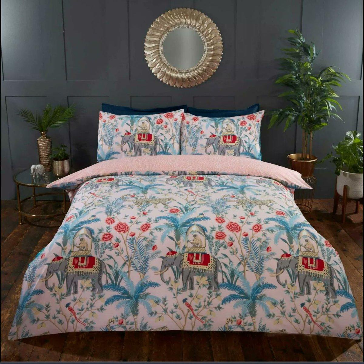 Loving these summer safari design bedding sets, making me feel like I'm on a wild adventure.  Which colour scheme do you prefer?  #YourBizHour #home #Safari #elephants #MHHSBD https://t.co/pzdIOPoYsu