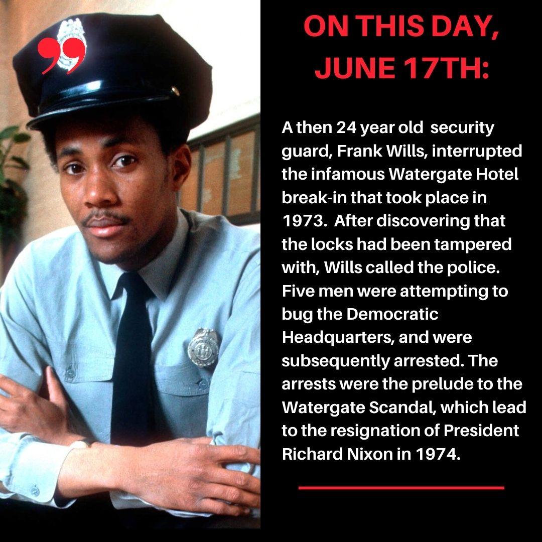 Fun fact: Frank Wills was born in Savannah, GA in 1948. #frankwills #watergate #watergatehotel #history #nationalhero https://t.co/kcsrqAB49r