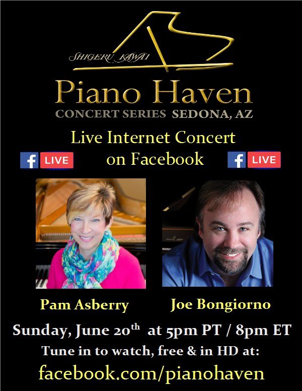 Our concert on Sunday will be live streamed on Facebook, so EVERYONE can attend! Here are all the details. Hope lots of you will be able to listen in! #piano #solopiano #concert #livestream https://t.co/hliavFXhFx